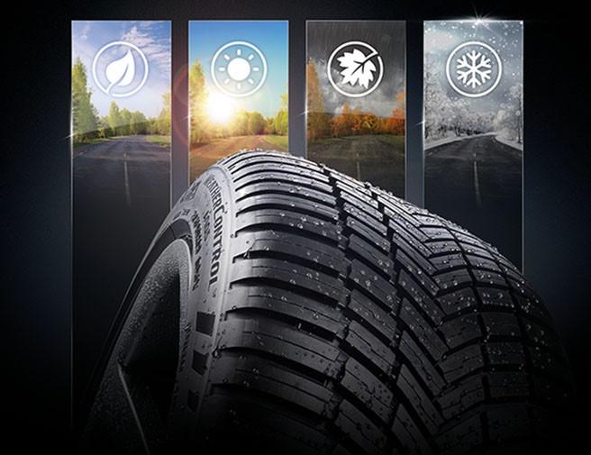 celoročné pneumatík pneumatiky zima